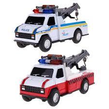 1 28 Pull Back Car Toys Children Police Crane Car Toys