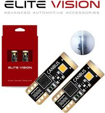 Elite Lights Out Elite Vision 194 168 T10 192 2825 W5w Titanium Series Led Non Polarity 400lm 6000k Bright White For Dome Map Courtesy Door License Plate Cargo