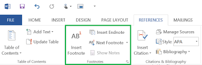 how to use microsoft word s works cited tools sources footnotes  everything you need to add footnotes and endnotes to your paper can be found in the footnotes section of the references tab