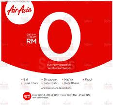 Free Tiket Airasia 2013 Zero Fare Free Air Tickets Promotion