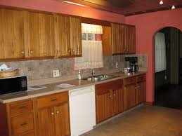 Oak Cabinets Living Room Kitchen Backsplash With Oak Cabinets Kitchen Ideas