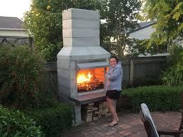 diy outdoor fireplace