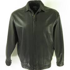 home mens outerwear jackets polo ralph lauren black leather jacket mens l plaid lined er soft