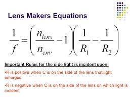 41 lens makers equations