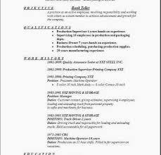 Bank Teller Responsibilities Resume Objective For Bank Teller Resume
