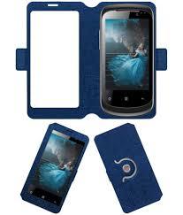 Celkon A9+ Flip Cover by ACM - Blue ...