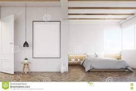 Schlafzimmer Mit Sofa Und Gestaltetem Plakat Stock Abbildung