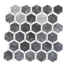 splashback tile ambrosia dark bardiglio and thassos 12 in x 12 in x 10