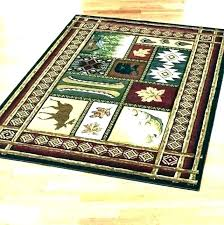 log cabin area rugs lodge style rustic ston