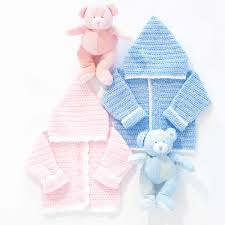 Yarnspirations Patterns Stunning Bernat Sweet Baby Hoodie Crochet Pattern Boys 48 Mos Yarnspirations