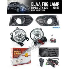 Honda City 2017 Dlaa Car Fog Lamp Fog Lamp Cover Black Cover