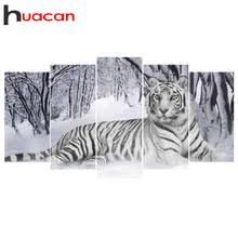 Алмазная картина Huacan <b>5D DIY</b>, <b>алмазная живопись</b> тигром ...