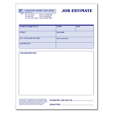 form for job basic blank job estimate form template free printable forms