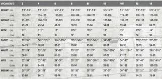 West Coast Surf Shop Size Charts