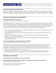Resume Example Home Health Care Administrator Cover Letter Resume