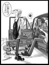 小説pandula 第3話 ナパちゃんギャングから車を奪う挿絵 れーむ666