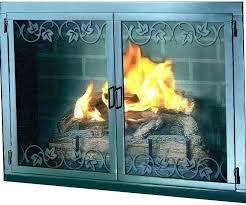 fireplace glass doors with blower wood burning prefab door insert replacement vs