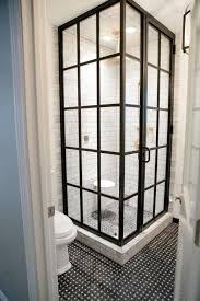 brilliant cool doors cool corner bathroom shower doors in black painted aluminum frame