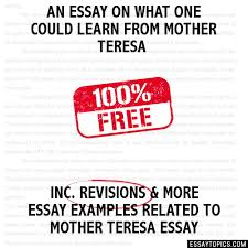mother teresa essay essay topics