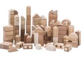 Wooden Bricks Game Coloured Wooden Blocks 55