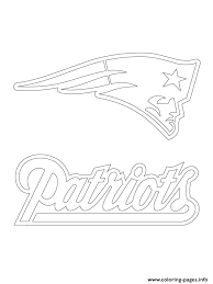 Small Picture New England Patriots Logo Football Sport Coloring Pages Printable