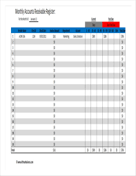 Schedule Of Accounts Receivable Template Free 7 Accounts Receivable Spreadsheet Samples And