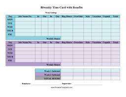 weekly time card time card with benefits time card