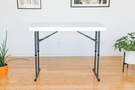 also great lifetime commercial height adjule folding utility table