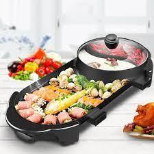 Bếp Nướng Lẩu 2 Ngăn ĐA NĂNG Nồi lẩu nướng điện 2 trong 1 tiết kiệm điện  năng - Bếp lẩu, nướng Thương hiệu OEM