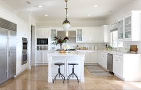 White Shaker Style Kitchens Galley Kitchen With White Shaker Style Cabinets And Modern Brushed