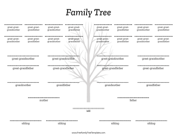 Family Tree Template Free Download Free Family Tree Templates For A Projects