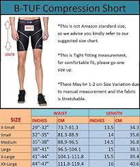 B Tuf Mens Compression Shorts Tights Lycra For Gym Swimming Running Cycling Football Badminton Sport Bt 81