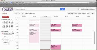 Converse College Google Calendar Share Calendar Youtube