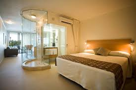 master bedroom with open bathroom. Spa-like Bedroom With Open Concept Bath Master Bathroom O