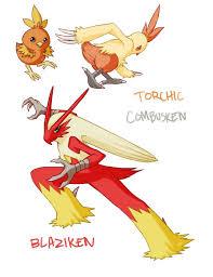 Torchic Combusken Blaziken By Aphose On Deviantart Pokemon