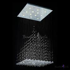 hanging crystal and beads 9 light 39 3 high 27 5 wide stainless steel canopy chandelier takeluckhome com