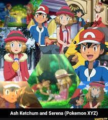 Ta % Lf Ash Ketchum and Serena (Pokemon XYZ) - Ash Ketchum and Serena (Pokemon  XYZ) - )