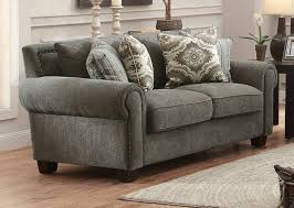 traditional fabric sofas. Exellent Traditional Homelegance 8306FA Hooke Grey Fabric Sofa Set 2Pcs Classic Traditional  Elegant Order Online In Sofas