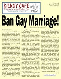 ban gay marriage heterosexual marriage too kilroy cafe  ban gay marriage kilroy cafe 2