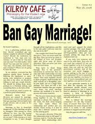 ban gay marriage heterosexual marriage too kilroy cafe  ban gay marriage kilroy cafe 2