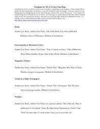 Mla Works Cited Template Shatterlion Info