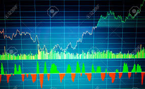 Chart Screen Fundamental And Technical Analysis Concept Market Trading Screen
