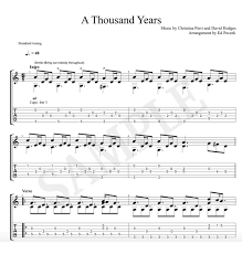 A Thousand Years Sheet Music A Thousand Years Sheet Music Guitar Tab