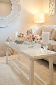 champagne pink and white cottage chic accent tray