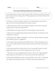 good topics for persuasive essays argument essay prompts