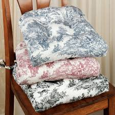 victoria park toile chair cushion set of 2 in seat cushions for kitchen chairs