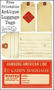 Printable Luggage Tags Vintage Luggage Tags Printable Clipart