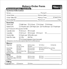 Simple Order Form Impressive Simple Order Form Template Simple Cake Order Form Template Nickcarlton