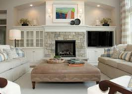 built ins around fireplace higher shelves and diffe stone new
