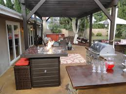 Outdoor Kitchen Fireplace Small Outdoor Kitchen Ideas Pictures Tips From Hgtv Hgtv